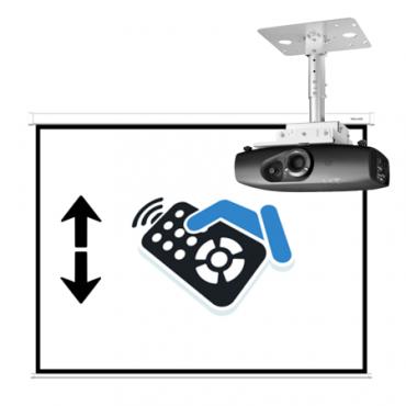 Монтаж проектора и моторизированного экрана